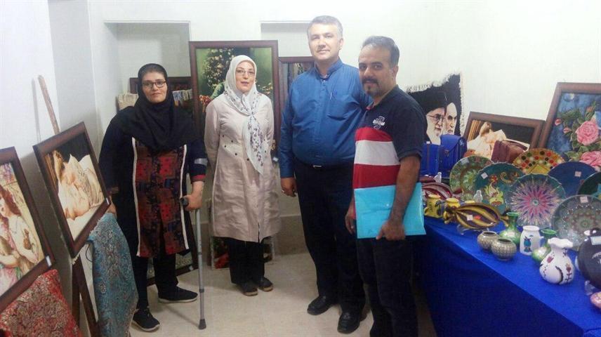 نمایشگاه صنایع دستی در بیجار برپا شد