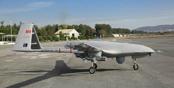 پرواز پهپاد ساخت ترکیه از سوی ارتش اوکراین بر فراز دونباس